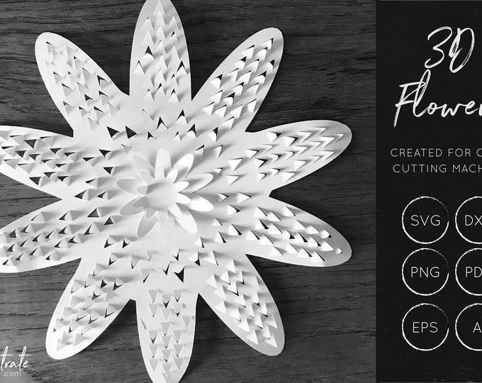 Layered Flower SVG 8