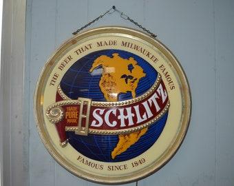 1977 Schlitz Beer Sign