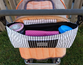 Pram Caddy/Stroller Bag/Bottle holder/Nappy Storage/Stroller Organiser/Diaper Storage/Tote bag  /bed Organiser