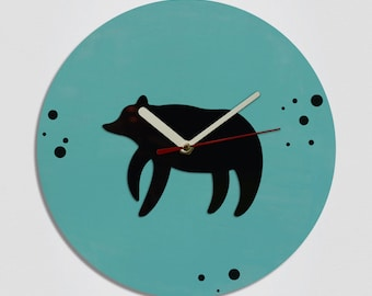 Bear Handmade Modern Wall Clock