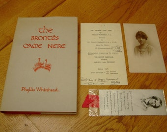 Phyllis WHITEHEAD-The Brontes Came Here-SIGNED + Extras-1ST-c.1963-hb-vg-Rare-What An INKVESTMENT
