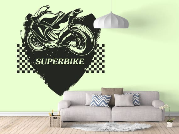 SuperBike Wall Decals Stickers For Rider Motorcycle - Sporting kc wall decals