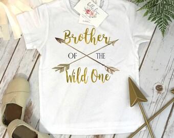 Wild One Birthday, Brother of the Wild One, Wild One, Wild Birthday, Brother Birthday, Boy Birthday, Brother Shirt, First Birthday, Wild One