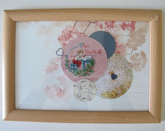 """Painting """"Dear Santa"""" embroidered"""