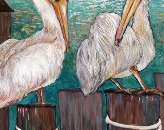Ceramic Trivet - Pelicans