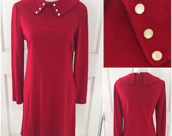 Vintage 1950 Sweet Red Dress  Medium/Large