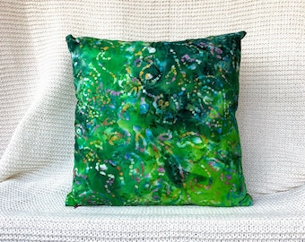 Abstract Watercolor print decorative pillow