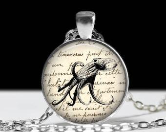 Octopus Necklace J Larson's Original Octopus Jewelry Necklace  Octopus Pendant Charm Octopus Keychain Nautical Keychain Nautical