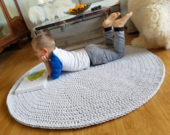 Many Colors, Many Sizes , Handmade Large Crochet Rug, Washable Cotton Rug, Natural Carpet Cotton Cord Rug, Doily Rug, Modern Rug
