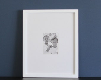 16x20 Picture Frame with Mat / Gallery Style / Choose Your Mat Opening Size / Black, White, Gray, Brown
