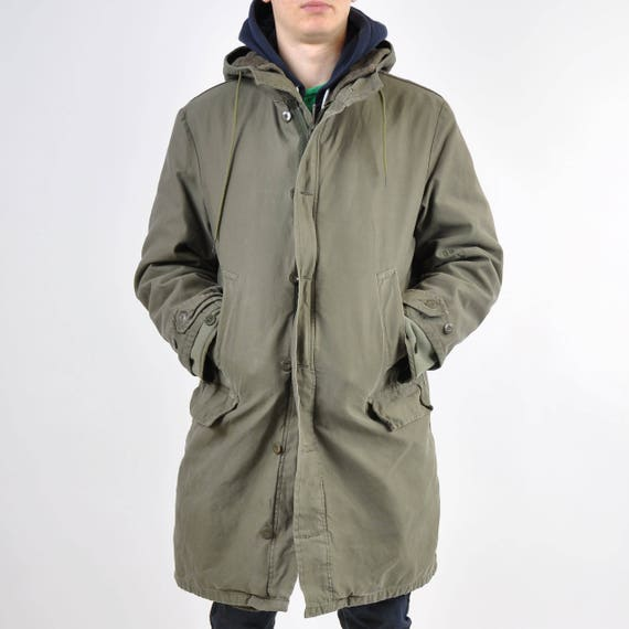 German Army Parka, West German Cold Weather Combat Parka, New Old Stock, 1982 Cold War, Small to Medium