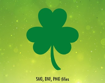 St Patricks day svg, Shamrock SVG, Clover DXF, Shamrock Cut File, Clover clip art, Clover PNG, Shamrock design, Saint Patricks day svg