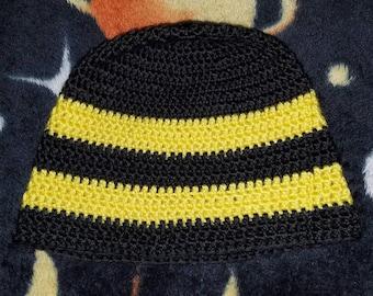 Simple 2 colors crochet beanie