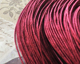 1 mm Deep Red Colour Waxed Cotton Cord (.mcc)