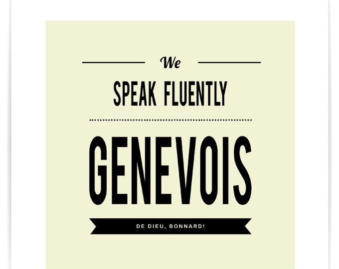 Poster We Speak Fluently Genevois