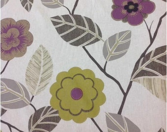 Harlequin Adelina in lime and damson by the half metre