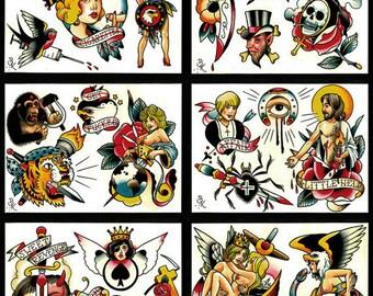 Tattoo Flash Set 14 by Brian Kelly.  6 sheets.