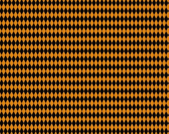 Happy Halloween by Patrick Lose - Harlequin Orange - Cotton Woven Fabric