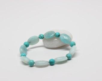 Turquoise bracelet, Stone bracelet