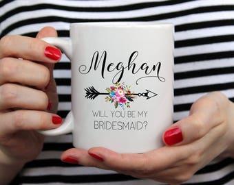 Bridesmaid Mug, Bridesmaid Gift, Bridesmaid Proposal, Will You Be My Bridesmaid, Bridesmaid Party Favor, Unique Bridesmaid Proposal Gift