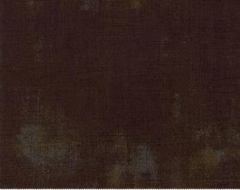 Brown Textured Fabric - Grunge Basics by BasicGrey for Moda Fabrics 30150 416 -  Chocolate Bison - Priced by the 1/2 yard