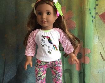 American Girl Cute Unicorn Outfit