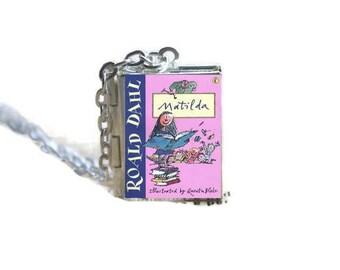Matilda Book Locket Necklace