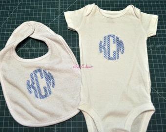 Monogrammed Bib for Baby