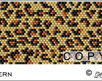 Peyote Pattern PDF File - Leopard Print
