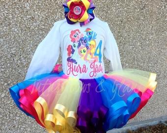 My Little Pony Ribbon Trimmed Tutu Set