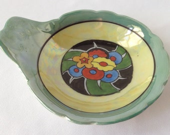 Colorful What Not Trinket Dish -Made in Japan