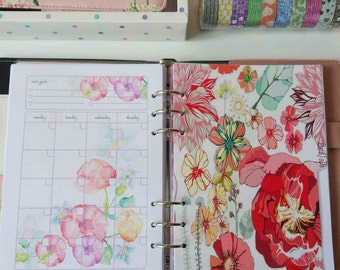 A5 planner inserts with Flowers, Planner pages, Planner notepad