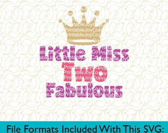 Second Birthday SVG Birthday Girl SVG Girl Birthday SVG Little Miss Two Fabulous Svg Png Dxf Eps Pdf Jpeg files for Cameo or Cricut