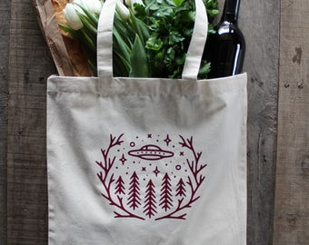 UFO Reusable Grocery Bag Canvas Tote
