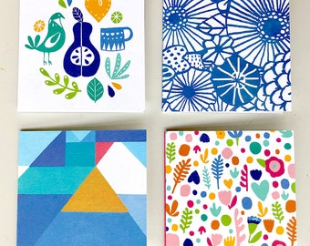 Square Gift Enclosure Cards (Set of 4)