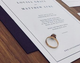 Printable Wedding Invitation | Minimalist, Simple, Romantic, Classic  | PARIS SUITE