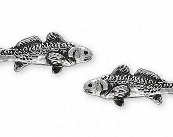 Redfish Cufflinks Jewelry Sterling Silver Handmade Redfish Cufflinks RF1-2CL