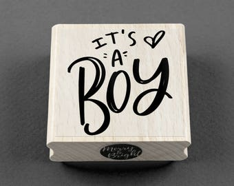 Rubber Stamp It's a Boy 5 x 5 cm