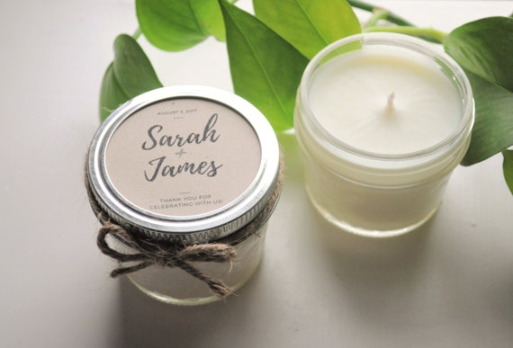 Candle Wedding Gift: 12 Wedding Favor Candles Wedding Gift For Guests Candles