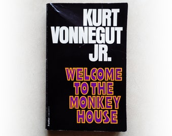 Kurt Vonnegut - Welcome to the Monkey House - Panther science fiction vintage paperback book - 1979