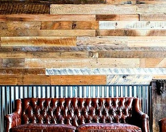 Reclaimed wood wall - 100 sq ft - reclaimed wood paneling - wood plank - wall plank - 7.75 per sq ft
