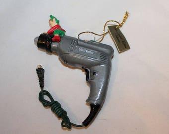 Craftsman drill Christmas ornament (Damaged) 1995