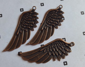 Antiqued copper Wings (3)