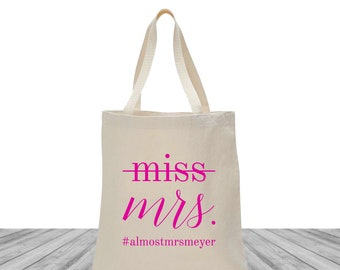 Welcome Bags, Tote Bags, Wedding Bags, Bachelorette Bags, Custom Totes, Personalized Tote Bags, Custom Canvas Bags, Miss to Mrs., 1481