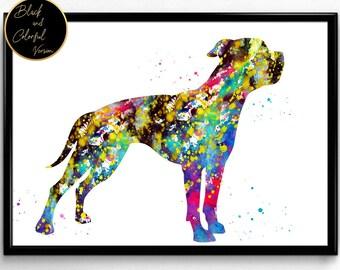 American bulldog, Dog, Animal, dog breed, Watercolor, Poster, Room Decor, gift, print, wall art (951)