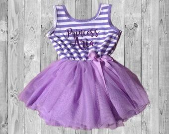 Personalized Tutu Princess Dress - Purple