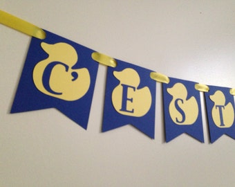 duck banner - duck decorations - duck party - duck baby shower - duck favors