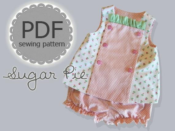Sugar Pie Reversible Bib Top And Bloomer Dress Pdf Pattern