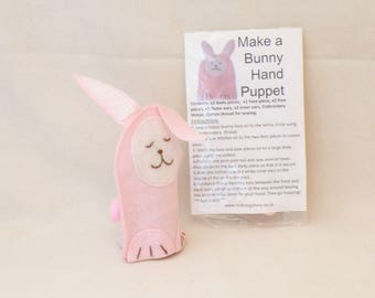 Bunny hand puppet kit
