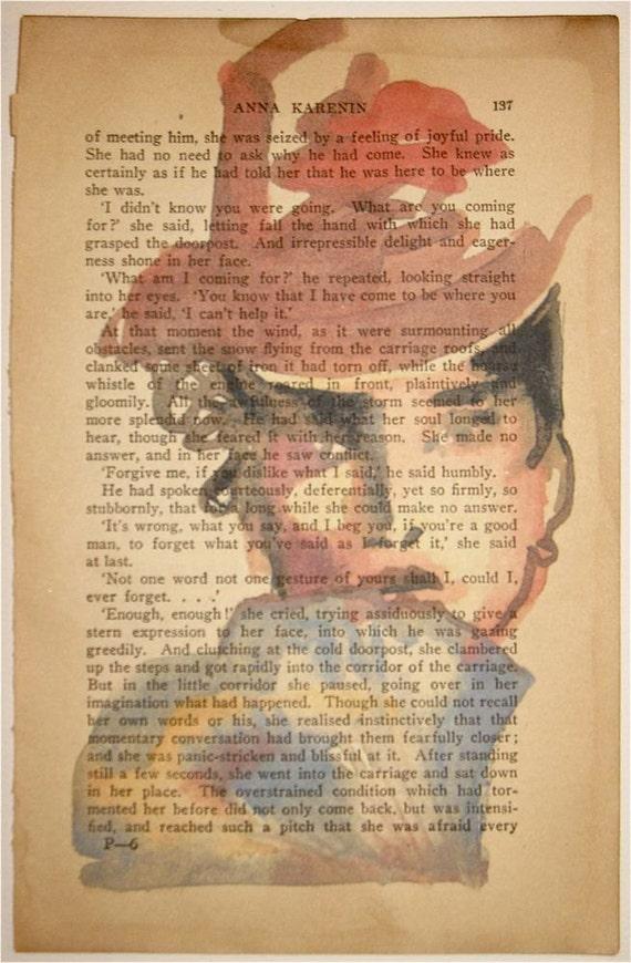 Anna Karenina hides her LOVE  by Gretchen Kelly, New York Artist